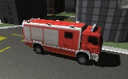 3D Fire Fighter Truck Parking