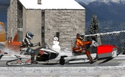 Snowmobile Winter Racing